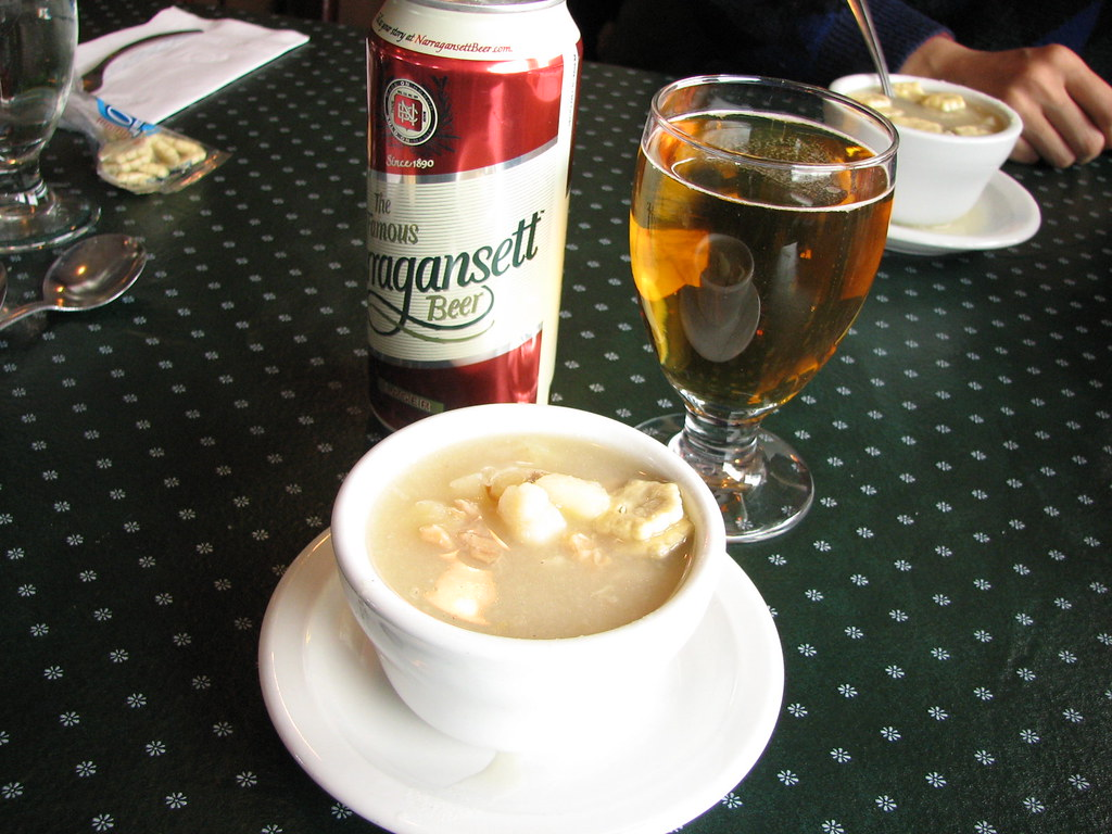 Rhode Island Clear Clam Chowder at George's of Galilee