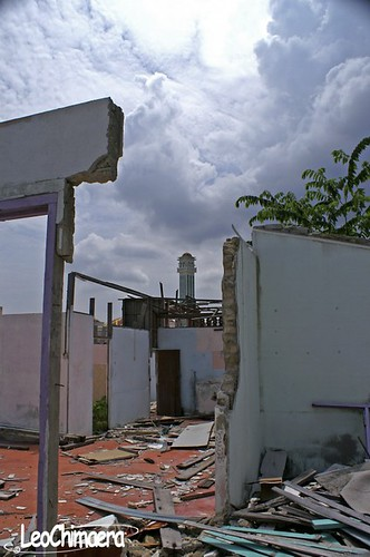 Faith Raises Among Destruction 1 -- mosque destruction cloudy leo minaret eddy chimaera leochimaera among faith raises