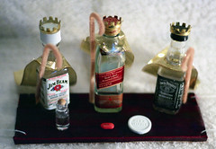 The Three Wisemen (barleymashers) Tags: christmas xmas drunk bottle bottles drinking whiskey beam homemade ornament booze jackdaniels jimbeam advil wisemen popcandy