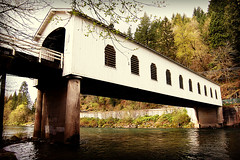 Good Pasture Covered Bridge (Nativeagle) Tags: bridge oregon lomo nikon d70 native action bridges cover coveredbridge navajo nativeagle lomoeffect coveredbridges nikon1835 goodpasturebridge oregoncoveredbridges