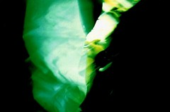 faceless, (mel-pin) Tags: woman black green lca xpro crossing faceless through gesture