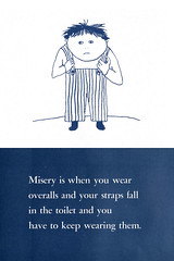 Overalls (Stewf) Tags: illustration vintage stripes toilet overalls misery childrensbook straps suzanneheller