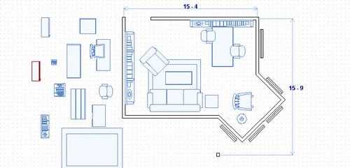 floor plan with joint desk