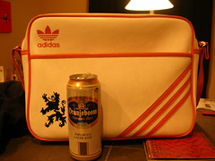 Dutchness (kevincrumbs) Tags: beer adidas oranjeboom