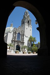 Balboa Park Through the Doorway (cwgoodroe) Tags: california park vacation favorite holiday flower water fountain pool animals architecture relax reflecting san sandiego weekend relaxing july diego fisheye sd balboa 31 balboapark sandeigo sfchronicle96hrs july312007 31july2007 50favorite