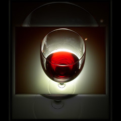 My dear flickr fellows, ... (Yorick...) Tags: light red black glass wine frame transparencies artlibre