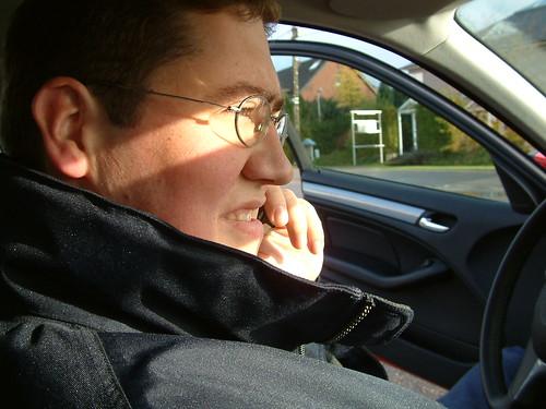 Frederik on the phone