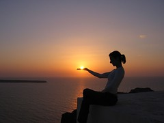 Sunset is served! (Milena T.) Tags: sunset orange bravo santorini greece oia magicdonkey 3000v120f good1 creativeshotinvited anawesomeshot ultimateshot flickrplatinum infinestyle frhwofavs 170607 top20greece
