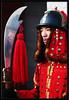 Korean guard reflected Seoul Kyeongbokgung South Korea (Derekwin) Tags: travel red reflection tourism asia traditional guard korea derek armor seoul sword southkorea winchester polearm kyungbokgung httpwwwflickrcomgroupstop20reflections colorphotoaward kyeongbokgung lpreflect derekwin derekwinchester