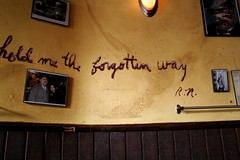 (please) hold me the forgotten way (k.james) Tags: yellow wall sadness frames quote ludlow despair crackedpaint sorrowful pinkpony
