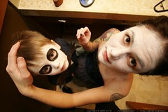 jack skellington and the corpse bride apply their halloween costume makeup - _MG_8867.JPG - by sean dreilinger