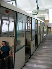 The funicular at Petrin