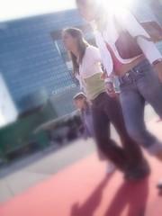 La Dfense (gillesklein) Tags: street city portrait blur paris france catchycolors french klein body 2006 ladefense cc corps creativecommons language gilles 2007 gillesklein womenfaces itzkovitch fsem100j itzkovitchklein