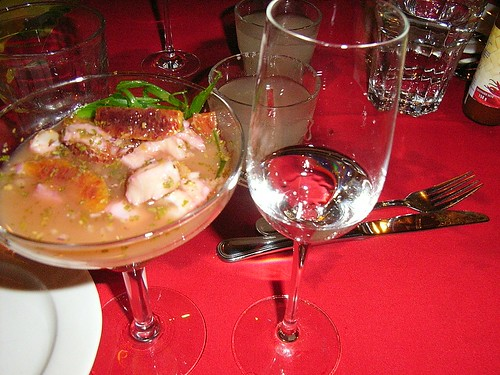 Blood Orange and Monkfish Ceviche
