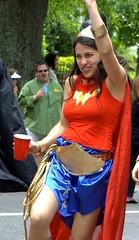 Wonder Woman, plus Beer (jetrotz) Tags: atlanta costume wonderwoman superhero inmanparkfestival