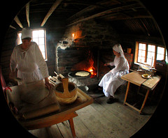 making of lefse (flappingwings) Tags: oslo norway fisheye bygdy lefse norwegianfolkmuseum norskfolkemuseum