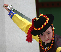 Suwon Korean dance performance sword dance Suwon South Korea (Derekwin) Tags: hat training asian dance dangerous asia cut attack performance korea sharp derek korean weapon sword strike blade southkorea winchester hwaseong suwon skill headgear koreandance kisaeng derekwin derekwinchester