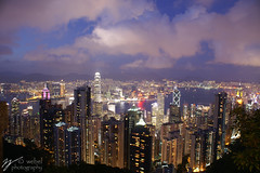 What a Beautiful Sight! (Steve Webel) Tags: china skyline clouds hongkong lights minolta  thepeak  maxxum5d dynax5d webel