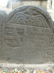 Gravestone in Boston, October 2005