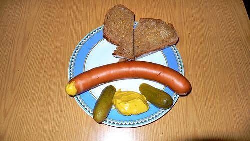 Knackwurst im alten Ritter in Sankt Georg.