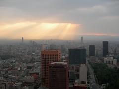 Sunlight & Smog over Mexico City by hannoflickr
