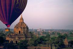 Velvia #1 001 (Kelly Cheng) Tags: temple balloon velvia myanmar paya bagan htilominlo pickbykc