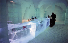 Sweden, Ice Hotel 'Ice bar' (willster) Tags: slr film 2004 beautiful bar 35mm easter pentax sweden swedish lapland vodka icebar absolut icehotel jukkasjrvi absolutvodka torneriver pentaxzx7 absolutvodkabar