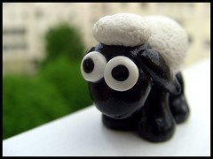 Petite moutonne (lavomatic) Tags: animal noir handmade main polymerclay fimo clay et balcon blanc argile polymer polymère faitmain argilepolymère