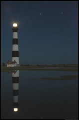 Reflections On Bodie Island Light (Islanista) Tags: longexposure lighthouse reflection taggedout northcarolina outerbanks obx bodieislandlighthouse payitforward capehatterasnationalseashore 123travel