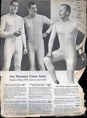 Our Warmest Union Suits (AZAdam) Tags: men wool fashion underwear sears 1958 catalog unionsuit longjohn