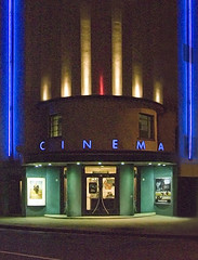 The great local Rio Cinema, London (Metropol 21) Tags: england cinema london architecture night marquee 1930s neon britain modernism landmark architectural artdeco movietheatre streamline 1937 streamlinemoderne riocinema electriclightingdesign