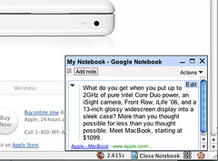 Google Notebook works on Macs!