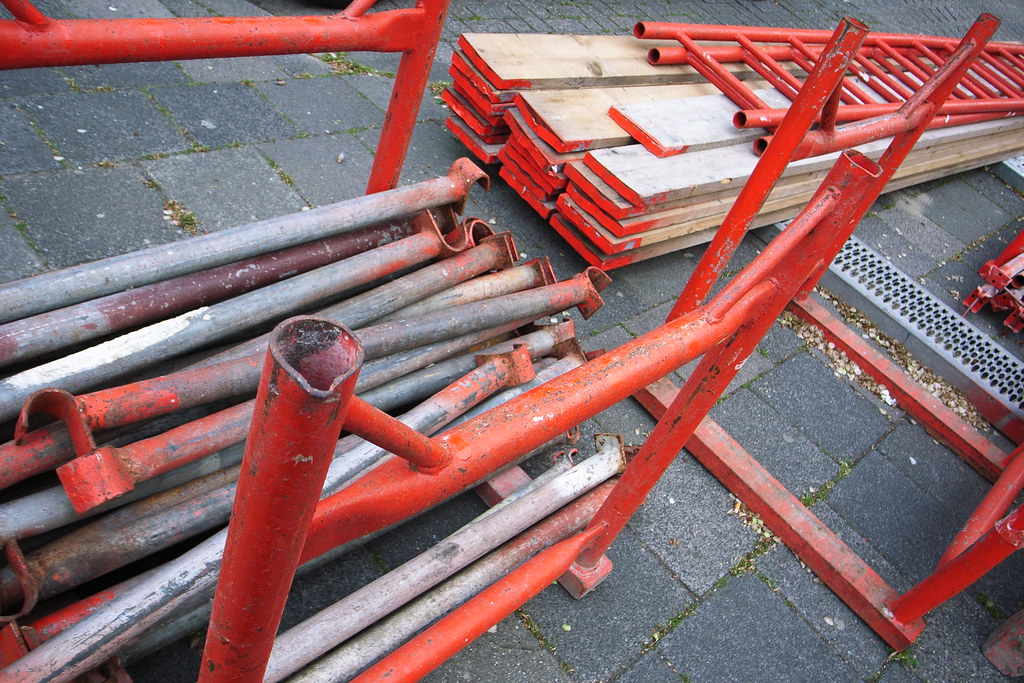 dismantled scaffolding