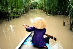 row (Farl) Tags: travel water colors river asia delta vietnam waters mekongdelta