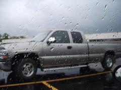 Silverado in the rain