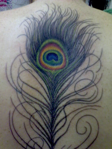 feathers tattoo. Peacock Feather Tattoo