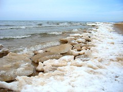 Lake Michigan in March (east&uptown) Tags: winter lakemichigan montague