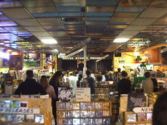 my view from behind the counter (laura musselman duffy) Tags: seattle street jason easy grandaddy lytle