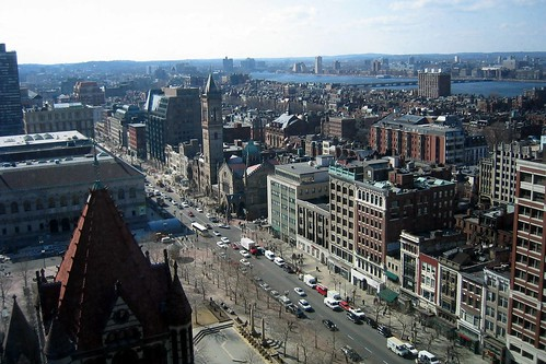 Boston - Back Bay: Boylston Street (Aerial)