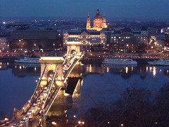 Budapest, Hungary (Daniel john buchanan) Tags: 2003 bridge canada travelling calgary art tourism night canon river dark europe hungary budapest tourist backpacking easterneurope dbuc canondigitalrebelxti myvaltari