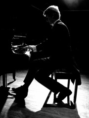 Will May 06 (Auntie P) Tags: portrait people blackandwhite bw music concert piano will pianist cy2 challengeyouwinner