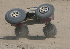 Big Air Spin (jurvetson) Tags: monster truck offroad spin shoreline gear roll nitro dust differential boystoys