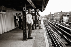 workers waiting (Ali Brohi) Tags: nyc newyorkcity portrait urban detail 20d brooklyn train canon subway daylight workers construction waiting group platform tracks trainstation mta hardhats bensonhurst 25thavenue seedingchaos moazzambrohicom httpwwwmoazzambrohicom wwwmoazzambrohicom