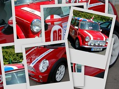 Even cars are decorated!! (Jaxpix50) Tags: red england white cars collage tag3 taggedout emblem football tag2 tag1 flag picasa mini worldcup unionjack jaxpix50 comeonengland jackiehsouth