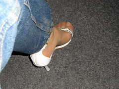 White sandals 2 (HHL) Tags: wearing high shoes highheels heels stiletto postyourshoes heelsformen