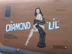 Diamond 'Lil' (Ange's photos) Tags: art plane airplane nose aviation wwii ww2 lib forties liberator warbird b24 noseart aerospace 40s lamplighter lockheedmartin readingairshow wwiiweekend alliedforces diamondlil aviationhistory b24liberator c87 readingweekend ww2weekend pb4y fortworthaviationhistoryassoc consolidatedaircraftcorp fordsfolly flyingboxcar liberatorexpress coneohboom aerospacehistory diamondlilnoseart