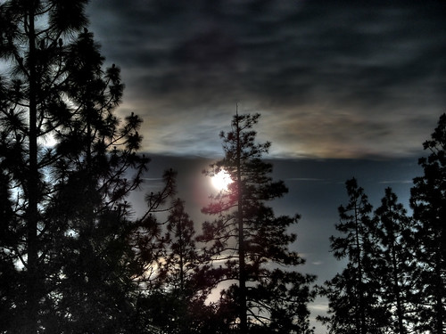 HDR moon in Cobb, CA