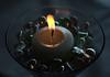Centerpiece (Aaron Webb) Tags: wedding fire candle lakemichigan miller flame centerpiece millerwedding
