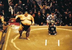 konishiki - tokyo (xthylacine) Tags: travel vacation holiday game sports sport japan asian japanese big asia fat huge sumo callaway athletes athlete sumowrestlers gluttony traditionaljapan sumowrestler humongous sumowrestling dohyo konishiki hcallaway xthylacine