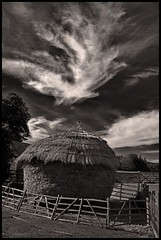 Hut at Beamish Museum (Bubble pop) Tags: england blackandwhite museum canon eos 350d beamish huts northeast bubblepop